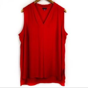 Vince Camuto Red Sleeveless Blouse 2X